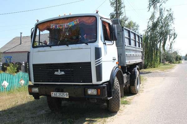 МАЗ-5551 цвет белый